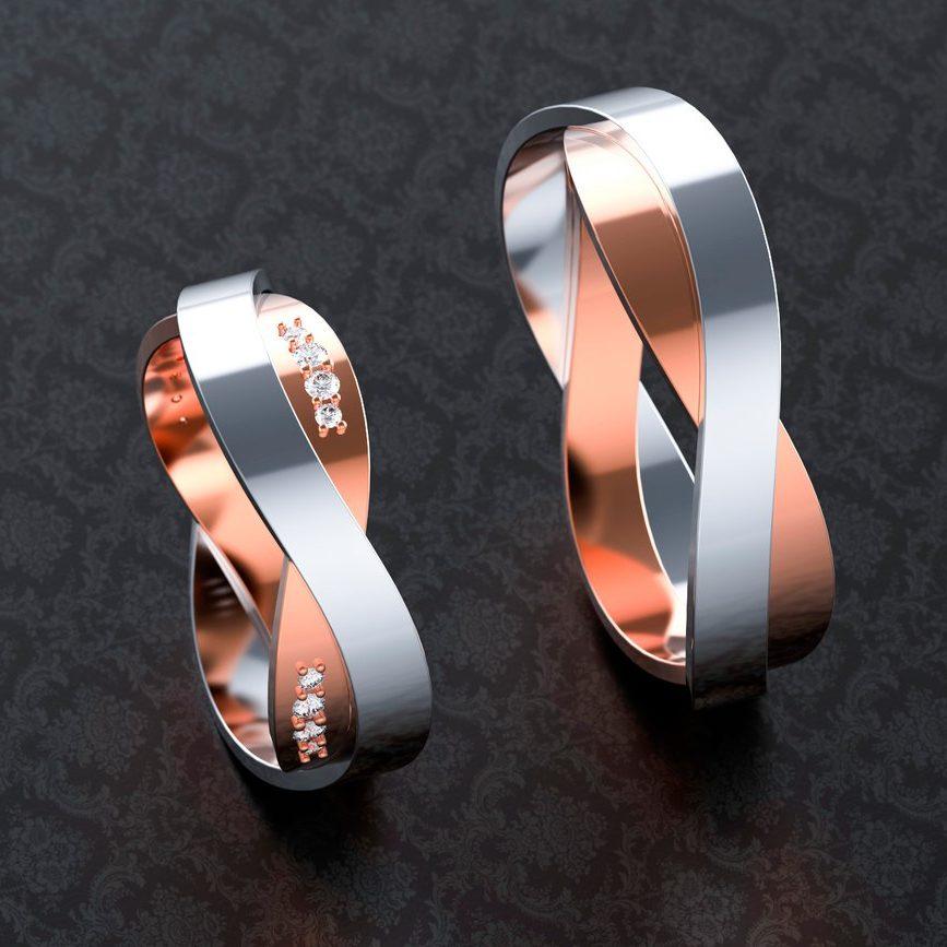 кольца обручальные со знаком бесконечности