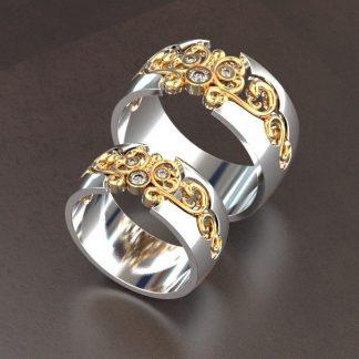 Из белого золота обручальные кольца