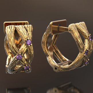 Женские золотые серьги